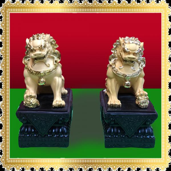 สิงโตทองคู่