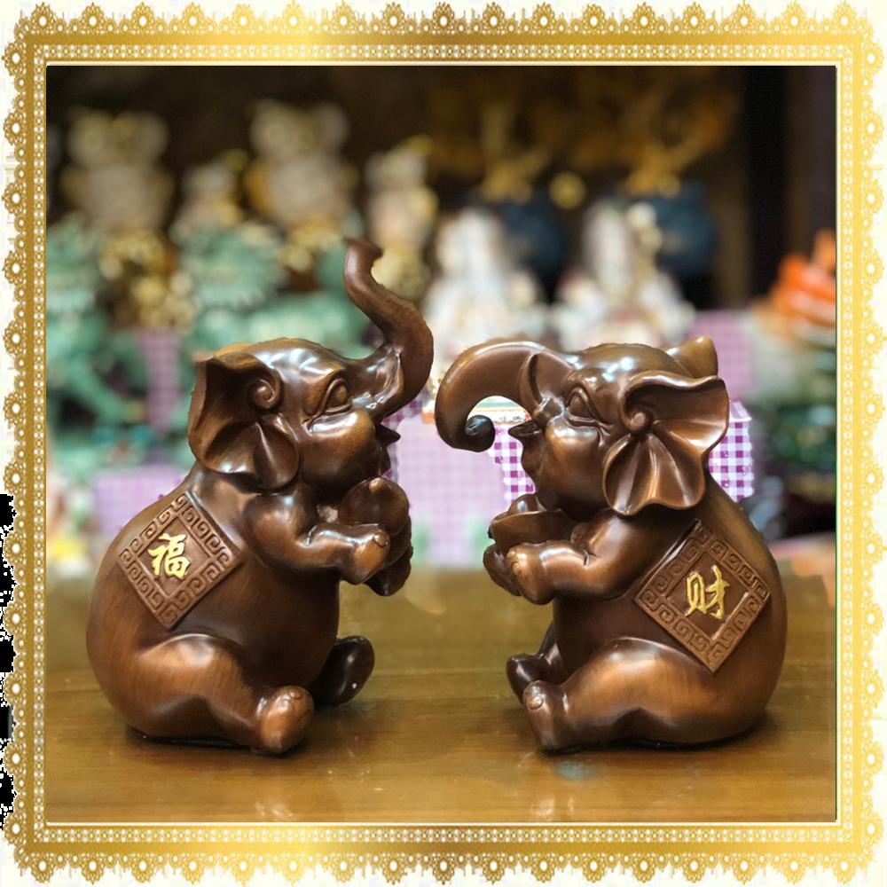 ช้างคู่ ถือน้ำเต้า - ก้อนทอง 2