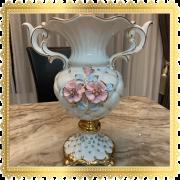 แจกันประดับโต๊ะลายดอกไม้ เซรามิกรุ่นกลม ขนาดกว้าง 9 นิ้ว สูง 12 นิ้ว 2.1